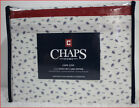 "Chaps CAPE COD Sheet Set - 100% Cotton 18"" Deep 220 tc Calico Print Cream & Blue"