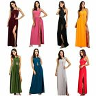 Sexy Women High Split Bridesmaid Party Maxi Long Dress Backless Bandage Cocktail