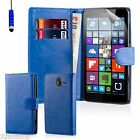 32nd Book Wallet Flip Case Cover Nokia & Microsoft Lumia Phones + Film & Stylus
