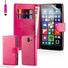 32nd Book Wallet PU Leather Flip Case Cover Nokia & Microsoft Lumia Phones