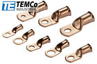 TEMCo Bare Copper Lug Ring Terminals Battery Wire Welding Cable AWG