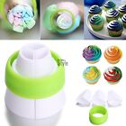 Icing Piping Bag 3Color Nozzle flower Coupler Converter Cream Cake Decor Tools @