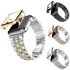 Stainless Steel Watch Band+Bumper Case Cover For Apple iWatch Series 1 38/42mm @