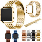 Dragon Stainless Steel Wrist Watch Band Strap +Frame Case For Fitbit Blaze Track