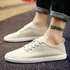Men's Summer Slip On Lace Up Breathable Loafers Comfortable Driving Flat Shoes