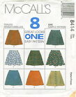 McCalls 8414 Girls Pull-On Skirts Sewing Pattern ~ 8 Easy Styles ***