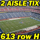 2 AISLE TIX: Kansas City Chiefs @ Houston Texans NFL 10/08 613rowH