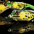 Fishing Lure Crankbait Large Frog Topwater Soft Bass Tackle Bait Hook Tackle 5pc