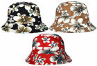 Woman's Bush Hat Floral Design Packable Pouch with Toggle Summer Sun Bucket Cap