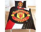MANCHESTER UNITED SINGLE BED DUVET QUILT COVER SET MAN UTD MUFC FOOTBALL CREST