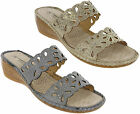 Cushion Walk Open Toe Wedge Sandals Slip On Cushioned Womens Maldives UK 3-8