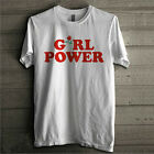 Fashion Women Girl Power T-shirt Letter Print T Shirt Tee Tops Casual Blouse LAU