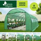 Walk In Tunnel Greenhouse Garden Green House Plant House Shed PE Cover Apex