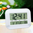 Nice Multifunction Digital LCD Lazy Mute Desk Alarm Clock Thermometer Calendar
