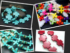 """15mm 20MM  Multi-Color / Blue Howlite Turquoise Cross Spacer Beads Jewelry 16"""""""