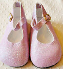 """Purple Glitter Ankle Strap Shoes w/ Buckle fit 23"""" Straight Leg / Poseable Doll"""