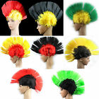 Dual Color Punk Mohican Rocker Wigs Mohawk Fancy Party Cosplay Halloween