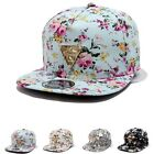 Fashion Floral Flower Snapback Hip-Hop Hat Flat Peaked Adjustable Baseball K0E1