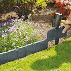 Cobbled Stone Effect Plastic Garden Lawn Edging Plant Border Simply Hammer In