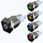 Waterproof 16mm 12V Car DIY LED Power Push Button Metal ON/OFF Switch Latching
