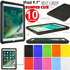 Shock Protective Tough Rugged Rubber BUMPER Case for Apple iPad 2017 / 5th Gen