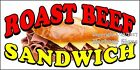 (CHOOSE YOUR SIZE) Roast Beef Sandwich DECAL Concession Food Truck Sticker