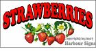 (CHOOSE YOUR SIZE) Strawberries DECAL Concession Food Truck Vinyl Sign Sticker