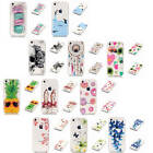 For iPhone 5C Bumper Colorful Patterned Transparent Soft TPU Silicone Case Cover