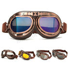 Retro Vintage Aviator Pilot Goggles For Motorcycle Cruiser Scooter Harley Cafe