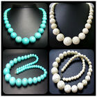 """8-18mm,8-20mm,6-22mm Beautiful Turquoise Gems Round Tower Bead Necklace 20"""""""
