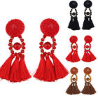 2017 long rope tassel Jewelry Elegant beads Earrings for Women Fringing earrings