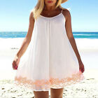 Women Mini Dress Summer Evening Party Beach Backless Skirts Sundress