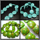 """18mm, 21mm, 25mm Turquoise Gems Square / Eight Side Spacer Beads 16"""""""