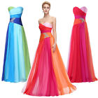 Rainbow Color Bridesmaid Evening Party &Long Dresses SUMMER Beach Gown~