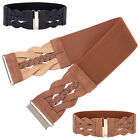"Wide Braided Belt~ For Women PU Leather 3"" Cinch Fashion Girls Dress Casual#"