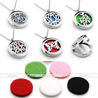 316L Openable Hollow Locket  Essential Perfume Oil Diffuser Pendant Necklace Pad