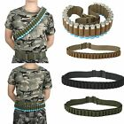 Shotgun Shell Holder Belt Adjustable Sturdy Nylon and 27 Secure Bullet Pouches W