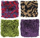 3D Effect Floral 43x43cm Scatter Cushion Cover Decorative Rose Petal Two Tone