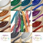 Gorgeous Quality Velvet Glitter Ribbon 10mm 1m Card Making Craft 10 Colours