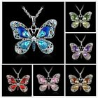 Fashion Women's Jewelry Butterfly Crystal  Animal Necklace Pendant Sweater Chain