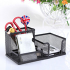 Mesh Pen Holder Office Stationery Combined Container Desk Storage Box Tool Set