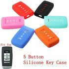5 Buttons Silicone Key Fob Remote Cover Case Fob For ACURA MDX TL TLX RDX ILX
