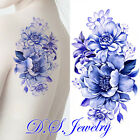 Attractive Beautiful Color Flowers Tattoos Sticker - Fashion and Looks Real