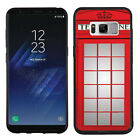 TPU Case (Black Bezel) for Samsung Galaxy S8 Plus / S8+ (Phone Booth Red)