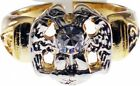 Scottish Rite 32nd Degree Wings Down Rhinestone Mens Ring
