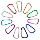 "Colorful 40 mm D Shape Spring Loaded Snap Hook Aluminum 1.75"" Mini Carabiner"