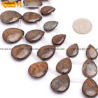 Natural Teardrop Stone Bronzite Gemstone Beads For Fashion Jewelry Making 15""