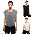 Womens Sports Yoga T-shirt Casual Comfy Fitness Gym Workout Jogging Top Blouse
