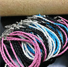 10/100 pcs Mixed Color Leather Rope With Metal Alloy Lobster clasp Bracelet Diy