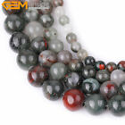 New AAA Grade Natural Round Africa BloodStone Bead Fashion Jewelry Making 15''
